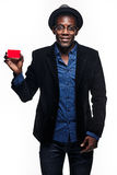 The black man with credit card Stock Photos
