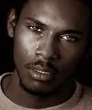 Black Man Crying Royalty Free Stock Photos