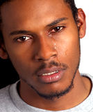 Black Man Crying Royalty Free Stock Photography