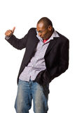 Black man dancing mood Royalty Free Stock Images