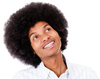 Black man daydreaming Stock Images