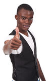 Black man doing thumb up and smiling Royalty Free Stock Photos