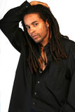 Black man with dreadlocks royalty free stock images