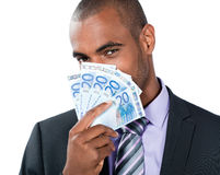 Black man with Euros Royalty Free Stock Photos