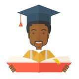 Black man with graduation cap Stock Images