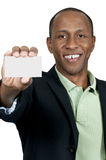 Black Man Holding Business Card Royalty Free Stock Image