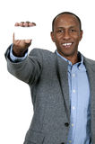Black Man Holding Business Card Royalty Free Stock Photos