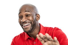 Black man laughing portrait Royalty Free Stock Photo
