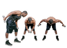 Black Man Lifting Weight Stock Images
