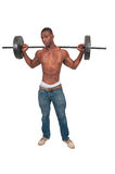 Black Man Lifting Weight Stock Photos