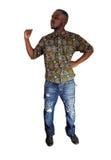 Black man making fist. Royalty Free Stock Image
