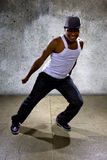 Black Man Performing Hip Hop Dance Choreography Stock Photography