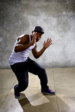 Black Man Performing Hip Hop Dance Choreography Stock Photos
