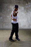 Black Man Performing Hip Hop Dance Choreography Stock Images