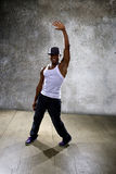Black Man Performing Hip Hop Dance Choreography Stock Photo