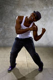 Black Man Performing Hip Hop Dance Choreography Stock Image