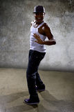 Black Man Performing Hip Hop Dance Choreography Royalty Free Stock Image