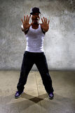 Black Man Performing Hip Hop Dance Choreography Royalty Free Stock Photos