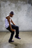 Black Man Performing Hip Hop Dance Choreography Royalty Free Stock Images