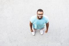 Black man portrait. Over head shot Stock Images