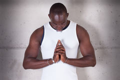 A black man praying Royalty Free Stock Photo