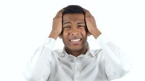 Black Man Reacting to Failure stock video footage