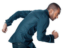 Black man running Stock Images