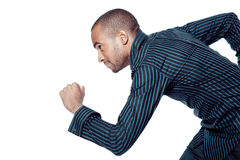 Black man running in shirt Stock Images