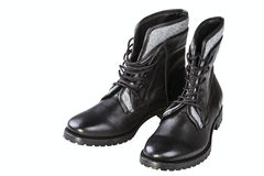 Black man's boot Royalty Free Stock Images
