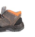Black man's boot with orange inset. Stock Photography