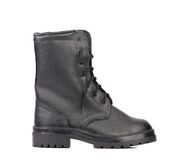 Black man's boot. Royalty Free Stock Photos