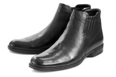 Black man's boots Stock Photography