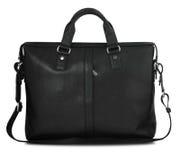 Black man's briefcase on white Stock Photo
