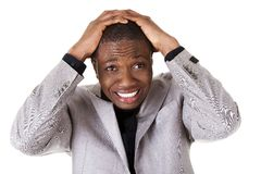 Black man's shock reaction Royalty Free Stock Images