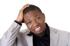 Black man's shock reaction Stock Images