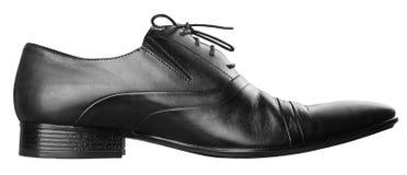Black man's shoe Stock Photo