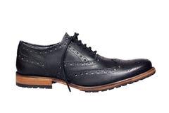 Black man's shoe Royalty Free Stock Image