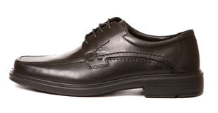Black man's shoe isolated Royalty Free Stock Photography
