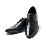 The black man's shoes Stock Image