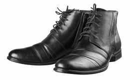 Black man's shoes Royalty Free Stock Images