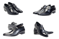 Black man's shoes. Isolated on a white background Royalty Free Stock Photography