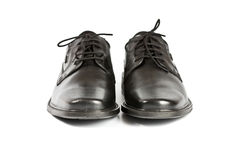 Black man's shoes Royalty Free Stock Image