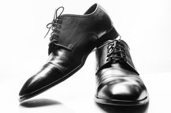 The black man's shoes isolated on white background. Stock Image