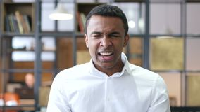 Black Man Screaming in Office. Designer , young man , handsome stock video