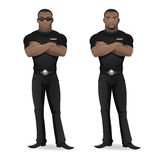 Black man security guard of nightclub Stock Photos