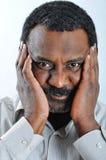 Black man in shirt Royalty Free Stock Image