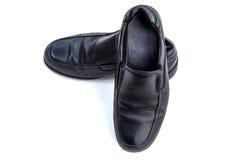 Black man shoes isolate on white background Royalty Free Stock Image