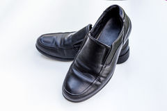 Black man shoes isolate on white background Stock Photography