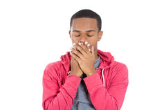 Black man showing speak no evil Stock Photography