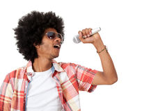 Black man singing Royalty Free Stock Photos